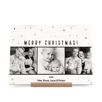 Fából készült karácsonyi kártyák