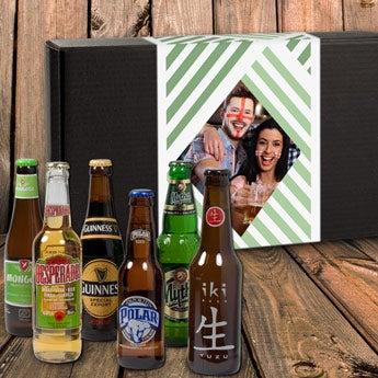 Personalised beer gift set