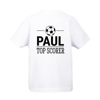 Camiseta esportiva infantil - Branco