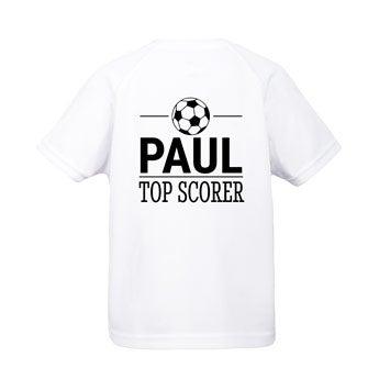 Koszulka dziecięca sportowa - biała