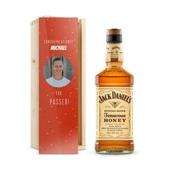Jack Daniels Honey Bourbon - Lyxig trälåda