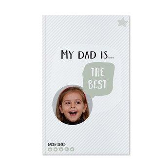 Deň otcov notebook - vytlačené