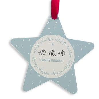 Julhænger aluminium - Star