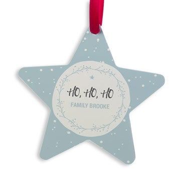 Karácsonyi fogas alumínium - Csillag