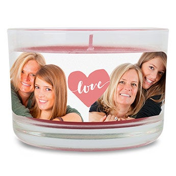 Äitienpäivän kynttilä