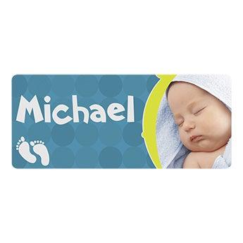 Placa de nome do bebê