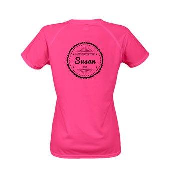 Damska koszulka sportowa - różowa