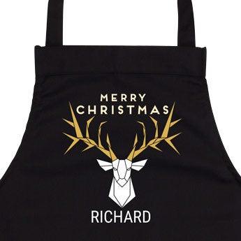Delantal de cocina - Negro - Navidad