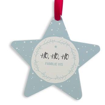 Christmas hanger aluminium - Star (2)