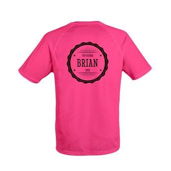 Camiseta esportiva masculina - Rosa