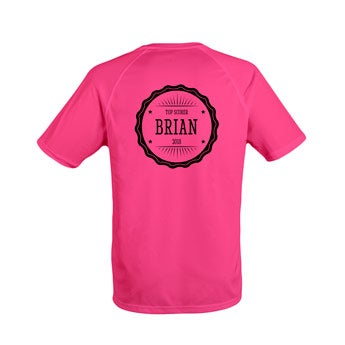 Miesten urheilullinen t-paita - vaaleanpunainen
