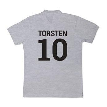 Poloshirt - Herren - Grau