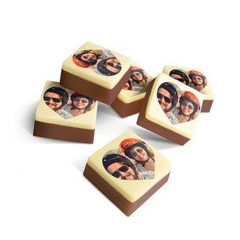 Chocolats personnalisés - Coeur