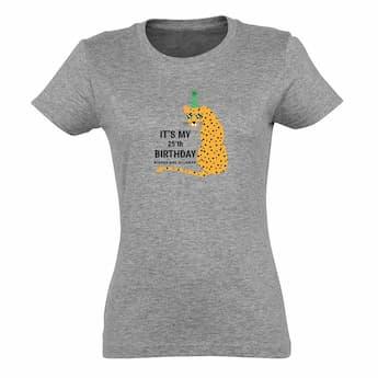 Naisten T-paita - harmaa