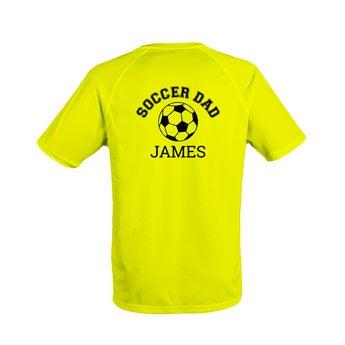 Miesten urheilullinen t-paita - keltainen