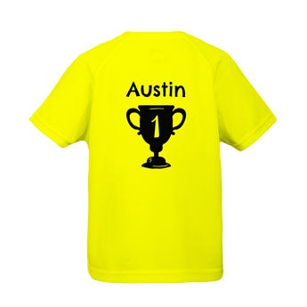 Niños camiseta deportiva - Amarillo