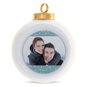 Keramische kerstballen
