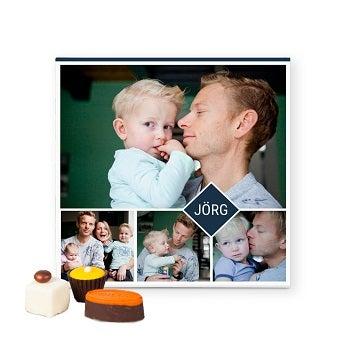 Pralinen mit Foto zum Vatertag