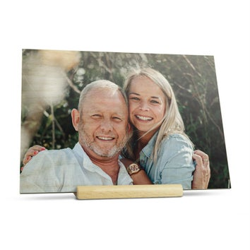 Cartão de dia dos pais de madeira