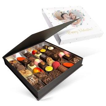 Luxus csokoládé díszdoboz - Valentin