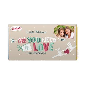 Verkade chocoladereep - All you need is love