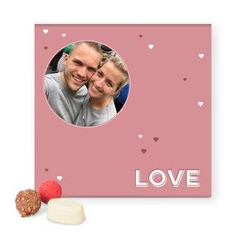 Luxe praline geschenkdoos - Valentijn