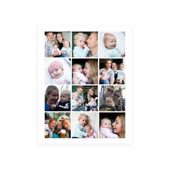 Kolaż zdjęć na plakacie dla Mamy