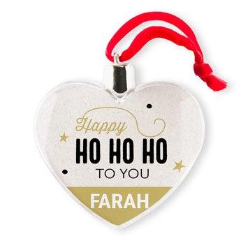 Decoraciones navideñas - Plástico - Corazón