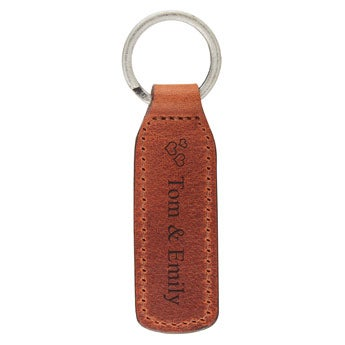 Kožený krúžok na kľúče