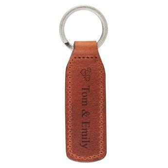 Lyxig nyckelring - Läder