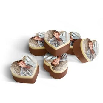 Chocolates em forma de coração