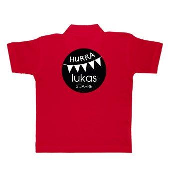 Kinder Poloshirt - Rot