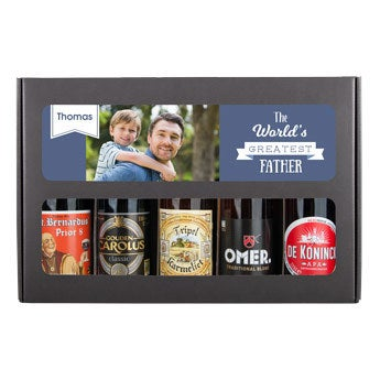 Personalised beer gift set