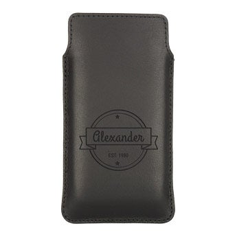 Housse portable cuir - M