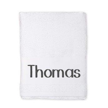 Broderet håndklæde