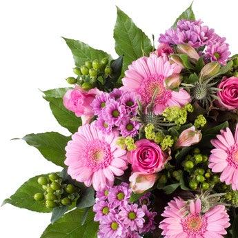 Boeket roze bloemen