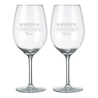Wine glasses - Red
