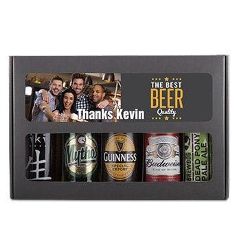Személyre szabott sör ajándékkészlet