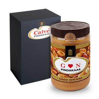 Calvé pindakaas pot met naam