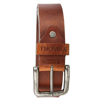 Personalised leather belt - Black (80)