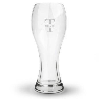 Graverade Ölglas