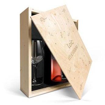 Coffret à vin avec verres - Luc Pirlet Syrah
