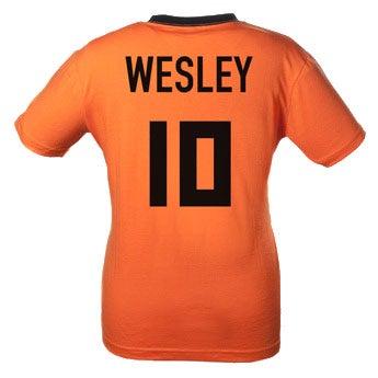Oranje T-shirt met naam