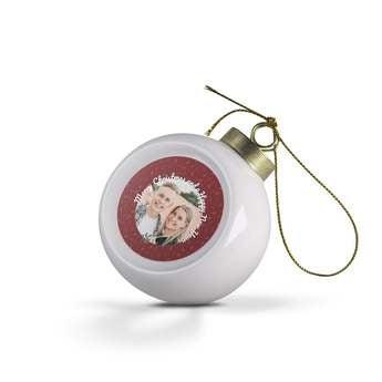 Bombka ceramiczna ze zdjęciem