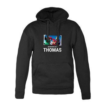 Mannen hoodie - Zwart
