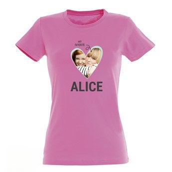 Naisten T-paita - vaaleanpunainen