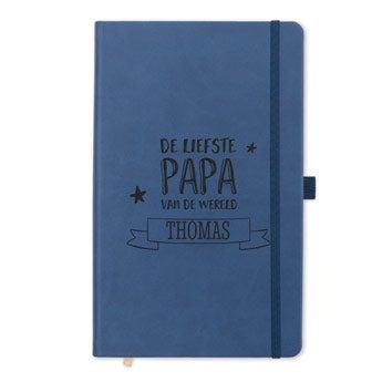 Vaderdag notitieboek - gravure