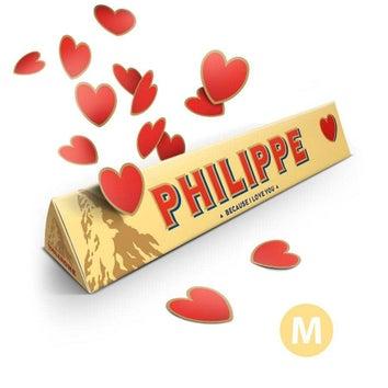 Toblerone personnalisé amoureux