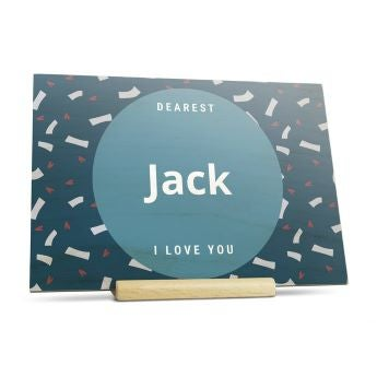 Wooden Valentines card