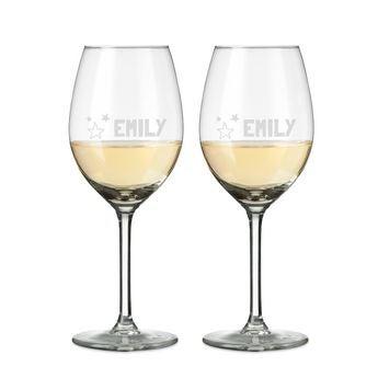 Copas de vino blanco